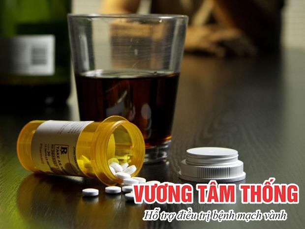 Rượu làm tăng các tác dụng phụ của thuốc điều trị bệnh mạch vành
